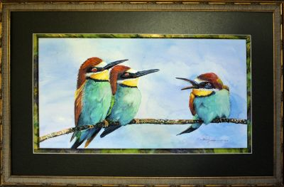framed bee eaters 2.jpg