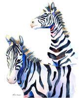 00-84 Two Zebras