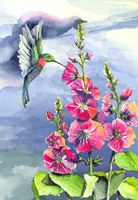 100-144 Hummingbird and Prairie Mallow
