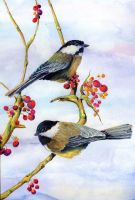 100-189 Two Chickadees