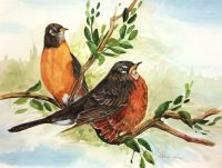 100-202 Two Robins