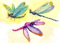 700-726 Trio of Dragonflies